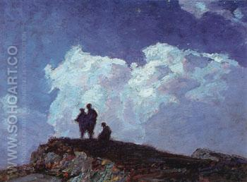 A Moonlight Night - Edward Henry Potthast reproduction oil painting
