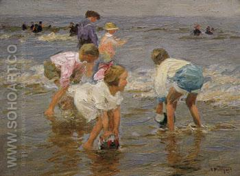 The Bucket Brigade - Edward Henry Potthast reproduction oil painting