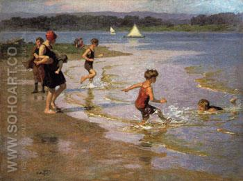 Young Bathers - Edward Henry Potthast reproduction oil painting