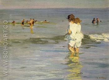 Chums - Edward Henry Potthast reproduction oil painting