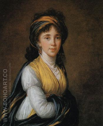Portrait of Princess Belozersky 1798 - Elisabeth Vigee Le Brun reproduction oil painting