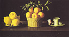 Still Life with Lemons Oranges and a Rose 1633 - Franciso De Zurbaran