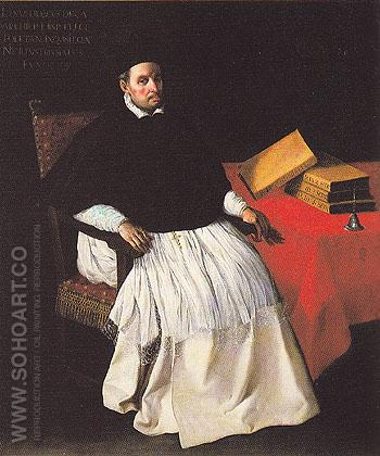 Portrait of Fray Diego Deza c1630 - Franciso De Zurbaran reproduction oil painting