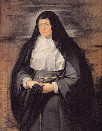 Portrait of the Archduchess Isabella Clara Eugenia Spanish Regent of the Low Countries as a Nun 1625 - Ruebens reproduction oil painting