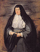Portrait of the Archduchess Isabella Clara Eugenia Spanish Regent of the Low Countries as a Nun 1625 - Peter Paul Rubens reproduction oil painting