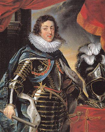 Portrait of Louis XIII King of France c1622 - Ruebens reproduction oil painting