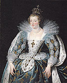 Portrait of Anne of Austria Queen of France c1622 - Ruebens reproduction oil painting