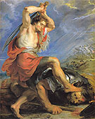 David Slaying Goliath c1630 - Ruebens reproduction oil painting