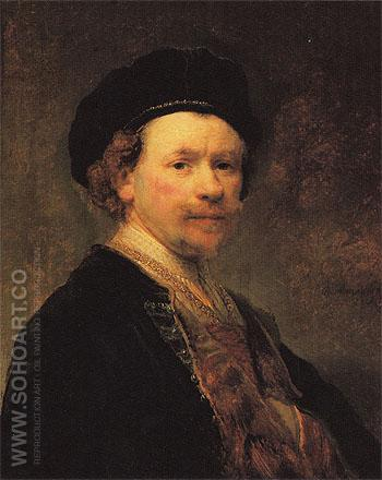 Self Portrait c1636 - Rembrandt Van Rijn reproduction oil painting