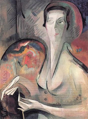 Self Portrait 1917 - Alice Bailly reproduction oil painting