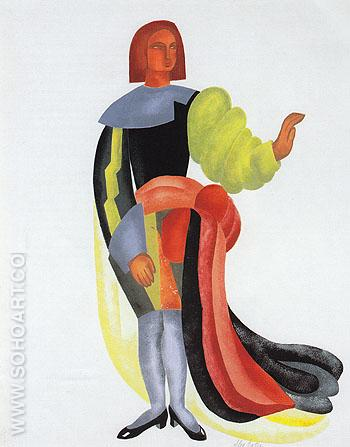 Costume design for Les Equivoques d'Amour c1933 - Alexandra Exter reproduction oil painting