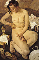 Traute Washing c1930 - Lotte Laserstein reproduction oil painting