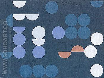 Composition of Circles and Semicircles 1935 - Sophie Taeuber Arp reproduction oil painting