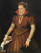 Portrait of a Noblewoman c1580 - Lavinia Fontana reproduction oil painting