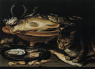 Still Life of Fish and Cat - Clara Peeters