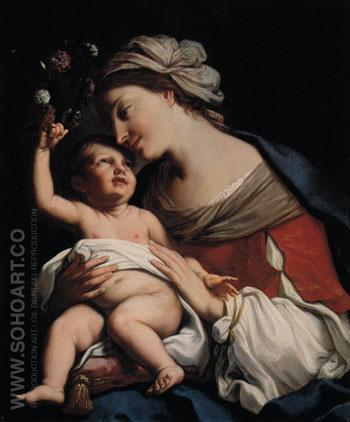 Virgin and Child 1663 - Elisabetta Sirani reproduction oil painting