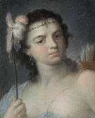 America c1730 - Rosalba Carriera reproduction oil painting