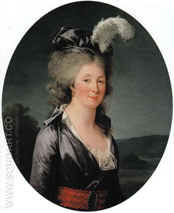 Presumed Portrait of the Marquise de Lafagette - Adelaide Labitte Guiard reproduction oil painting