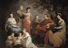 The Family of the Earl of Gower - Angelica Kauffman reproduction oil painting