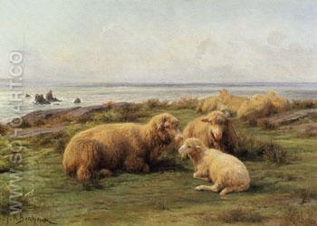 Sheep by the Sea - Rosa Bonheur reproduction oil painting