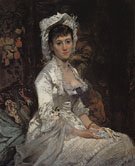 Portrait of a Woman in White c1873 - Eva Gonzales reproduction oil painting
