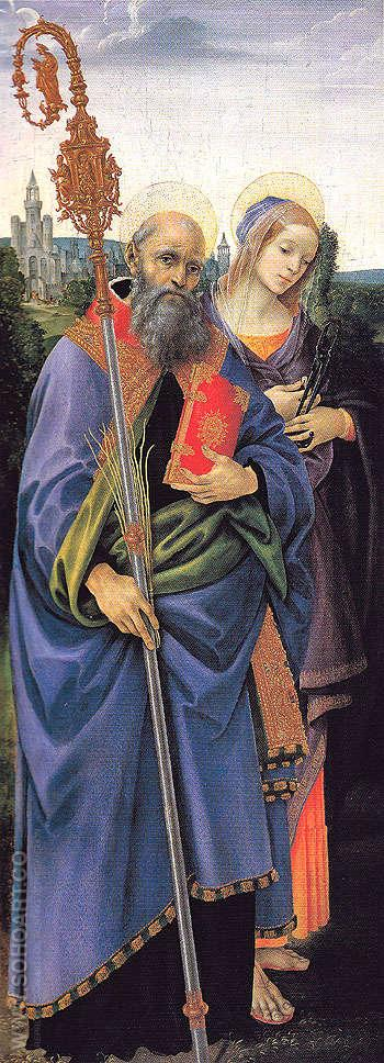 Saints Benedict and Apollonia c1483 - Filippino Lippi reproduction oil painting
