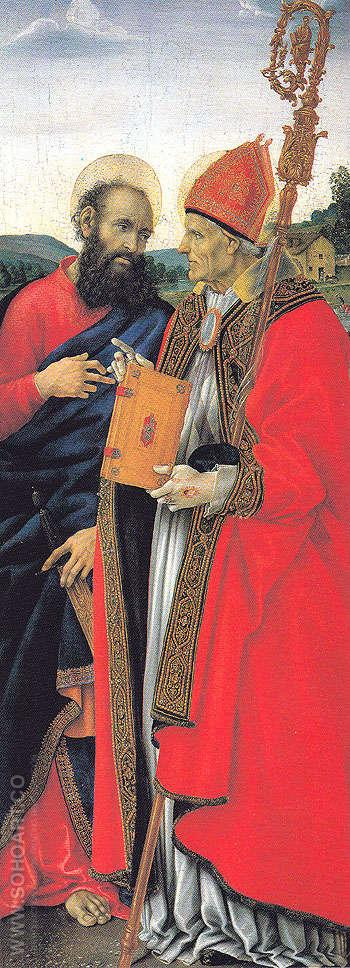 Saints Paul and Frediano - Filippino Lippi reproduction oil painting