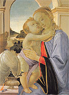 Madonna and Child with Adoring Angel c1468 - Sandro Filipepi