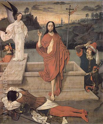 The Resurrection c1455 - Dieric Bouts reproduction oil painting