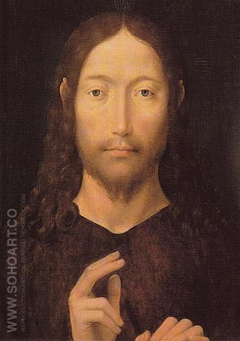 The Blessing Christ 1478 - Hans Memlinc reproduction oil painting
