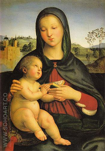 Madonna and Child with a Book c1502 - Raffaello Santi reproduction oil painting