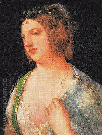 Portrait of a Courtesan c1509 - Giorgio de Castelfranco Giorgione reproduction oil painting