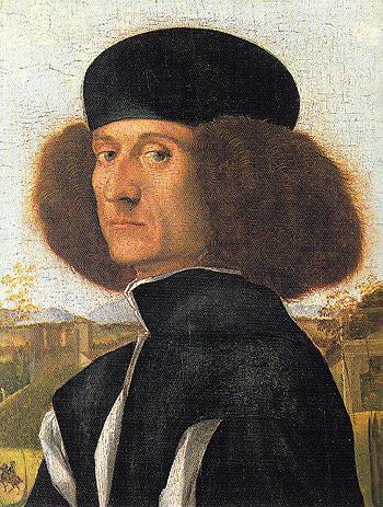 Portrait of a Venetian Nobleman c1510 - Vittore-Capaccio reproduction oil painting