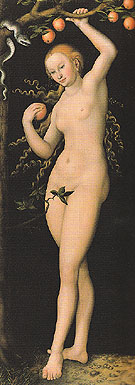Eve - Lucas Cranach reproduction oil painting