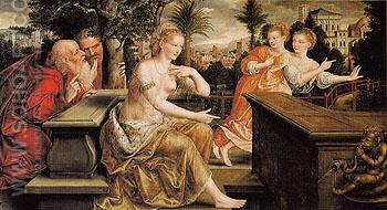 Susanna and the Elders 1564 - Jan Metsys reproduction oil painting