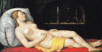 A Sleeping Woman 1544 - George Pencz reproduction oil painting