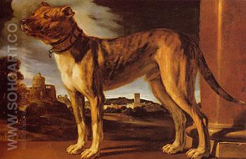 The Aldrovandi Dog c1625 - Giovanni Francesco Barbieri reproduction oil painting