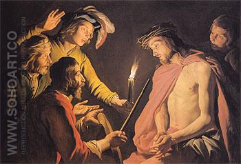 The Mocking of Christ c1633 - Matthias Stomer reproduction oil painting
