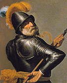 Man in Armor Holding a Pike - Jan van Bylert reproduction oil painting