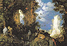 Landscape with Ruins and Animals 1624 - Roelandt Savery reproduction oil painting