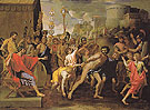 Camillus and the Schoolmaster of FalerII c1635 - Nicolas Poussin reproduction oil painting