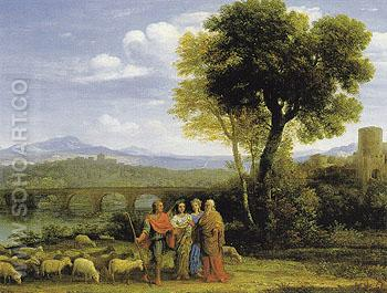 Landscape with Jacob and Laban and His Daughters 1659 - Claude Gellee reproduction oil painting