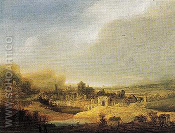 Panoramic Landscape 1640 - Jan Lievens reproduction oil painting