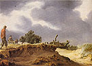 Landscape with Sandy Road 1628 - Salomon van Ruysdael