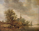 River Landscape with a Village Church 1642 - Jan van Goyen