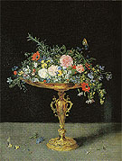 An Arrangement of Flowers - Jan Brueghel reproduction oil painting