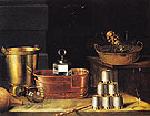 Still Life with Empty Glasses 1644 - Sebastian Stoskopff