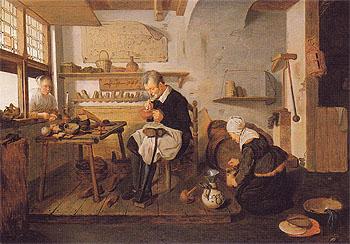 The Cobblers Shop - Quirin Gerritsz reproduction oil painting