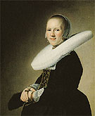 Portrait of a Lady 1641 - Johannes Cornelisz reproduction oil painting