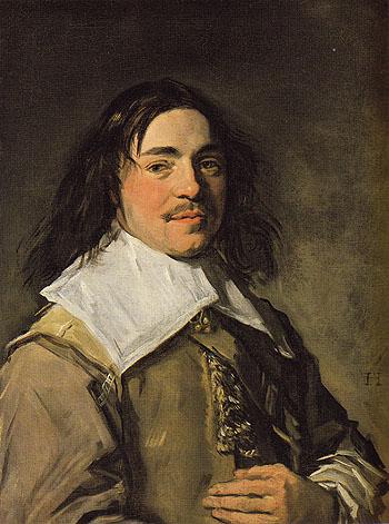Presumed Portrait of the Painter Jan Van De Cappelle c1650 - Frans Hals reproduction oil painting